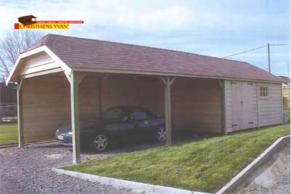 cottage tuinhuis met carport